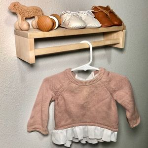 Baby girl 0-3m knitted sweater pink top shirt